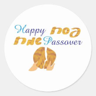 Happy Passover Round Sticker