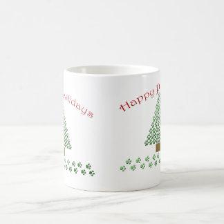 happy pawlidays copy1 coffee mug