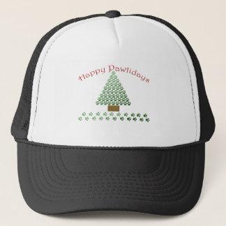 happy pawlidays copy1 trucker hat