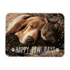 Happy Pawlidays   Holiday Photo Magnet