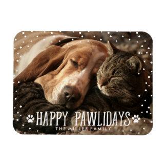 Happy Pawlidays | Holiday Photo Magnet