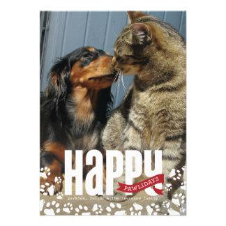Happy Pawlidays Pet Christmas Photo Card