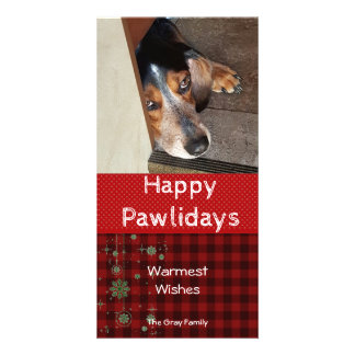 Happy Pawlidays | Pet Christmas Photo Customized Photo Card