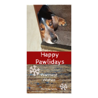 Happy Pawlidays | Pet Photo Christmas Photo Cards