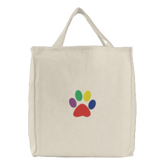 Happy Paws Doggie Embroidered Bag