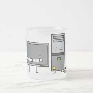 Happy PC Computer IT family Frosted Glass Mug