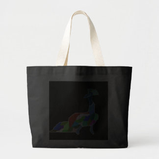 Happy Peacock Jumbo Tote Bag