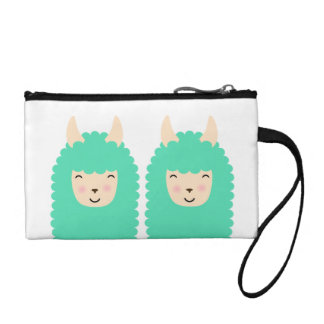 Happy Peekaboo Llama Emoji Coin Purse