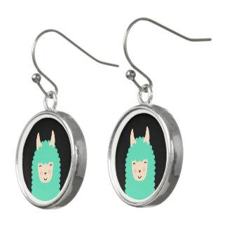 Happy Peekaboo Llama Emoji Earings Earrings