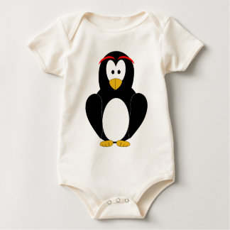 Happy Penguin Baby Bodysuit