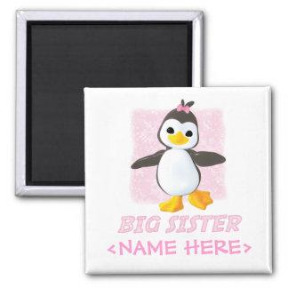 Happy Penguin Big Sister Magnet