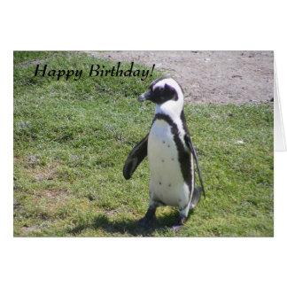 Happy Penguin Birthday card! Note Card