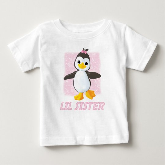 Happy Penguin Little Sister Baby T-Shirt