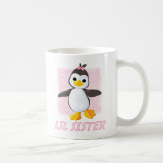 Happy Penguin Little Sister Coffee Mug