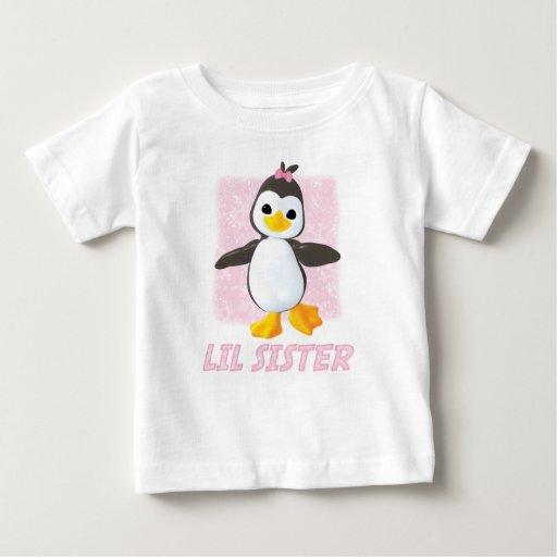 Happy Penguin Little Sister Tshirt