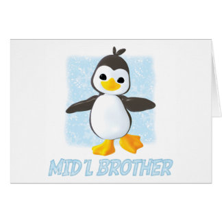 Happy Penguin Middle Brother Stationery Note Card