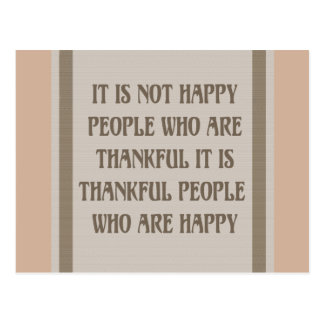 Happy People are Thankful Greeting Cards Postcard