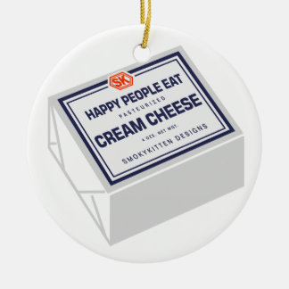 Happy People Eat Cream Cheese Christmas Ornament
