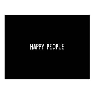 Happy people post card