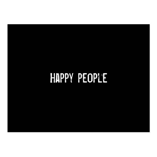 Happy people postcards