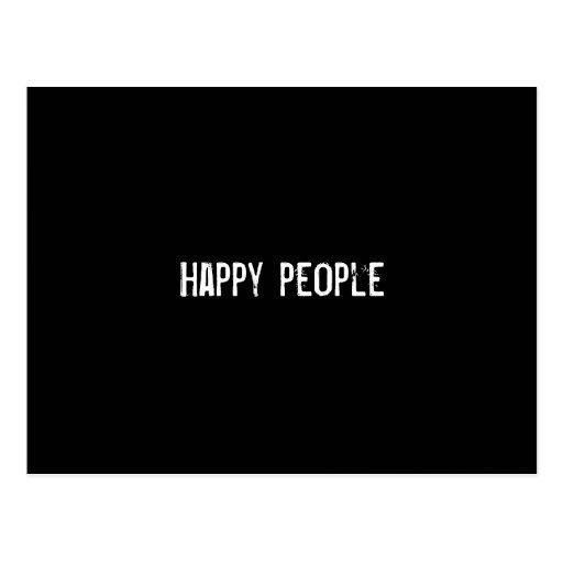 Happy people postcard