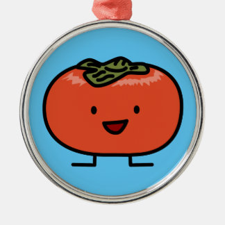 Happy Persimmon Pair Persimmons Sweet Fruit Christmas Ornament