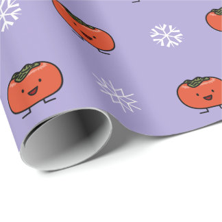 Happy Persimmon Wrapping Paper