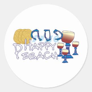Happy Pesach Round Sticker