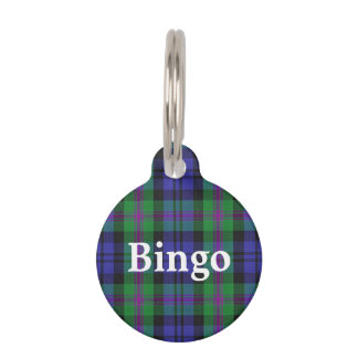 Happy Pet Clan Baird Tartan Plaid Pet Name Tag