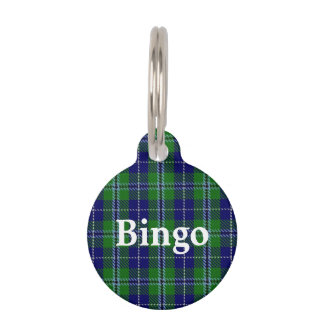 Happy Pet Clan Douglas Tartan Plaid Pet Tag