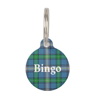 Happy Pet Clan MacDowall Tartan Plaid Pet Name Tag
