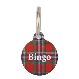 Happy Pet Clan MacFarlane Tartan Plaid Pet Name Tag