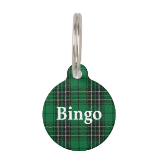 Happy Pet Clan MacLean Hunting Tartan Plaid Pet ID Tag