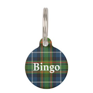 Happy Pet Clan MacRae Hunting Tartan Plaid Pet ID Tag
