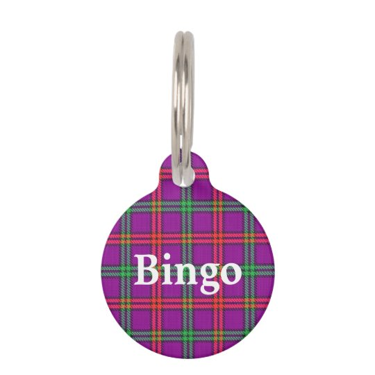 Happy Pet Clan Montgomery Tartan Plaid Pet ID