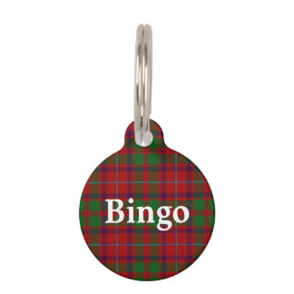 Happy Pet Clan Shaw Tartan Plaid Pet Tag