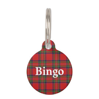 Happy Pet Clan Stewart Tartan Plaid Pet Tag