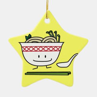 Happy Pho Noodle Bowl Ceramic Star Decoration