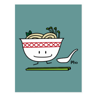 Happy Pho Noodle Bowl Postcard