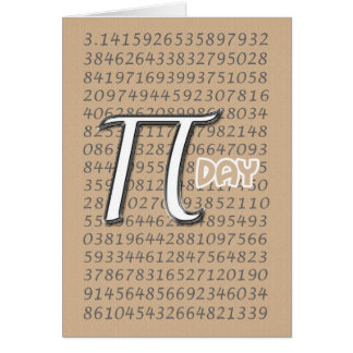 Happy Pi Day 3 14 March 14th Greeting Cards