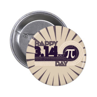 Happy Pi Day 6 Cm Round Badge