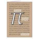 Happy Pi Day Birthday 3.14 March 14th Greeting Card