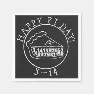 Happy Pi day chalkboard pie paper napkins