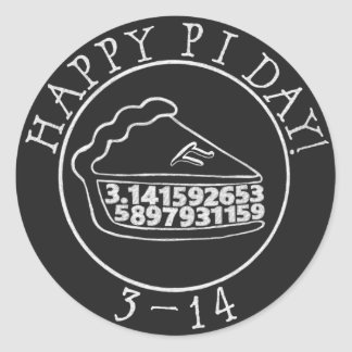 Happy Pi day chalkboard pie sticker