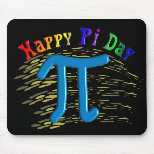 Happy Pi Day Gifts, Unique Embossed Design Mousepads