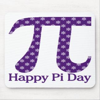 Happy Pi Day Lavendar Flowers on Purple Mousepad