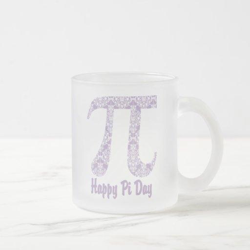 Happy Pi Day Lavender Damask Coffee Mug