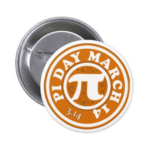 Happy Pi Day March 14 Pinback Button