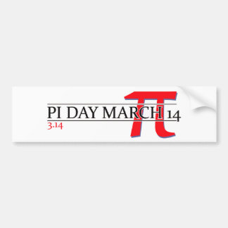 Happy Pi Day March 14 Bumper Stickers