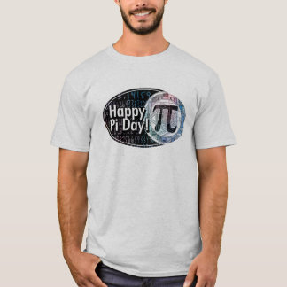 Happy Pi Day Oval Designs T-Shirt